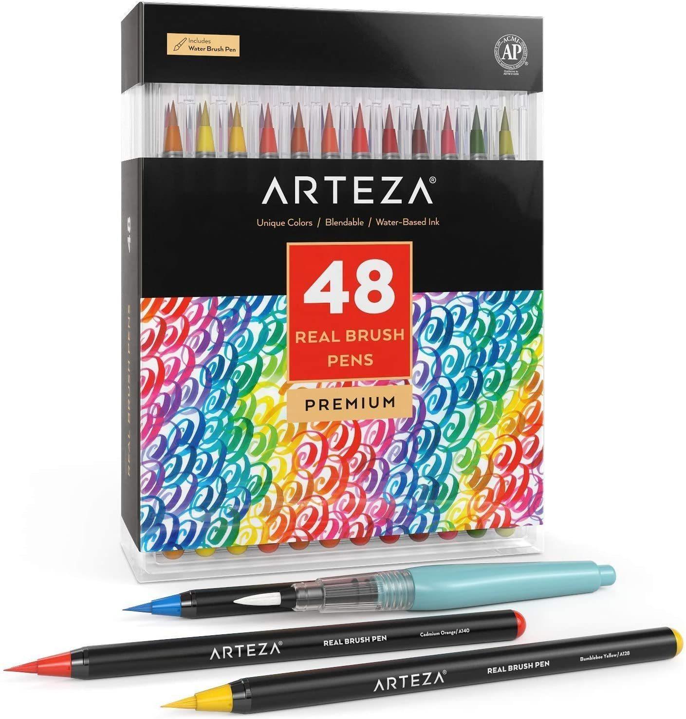 4-Piece Black Drawing Pen Set Art Supplies