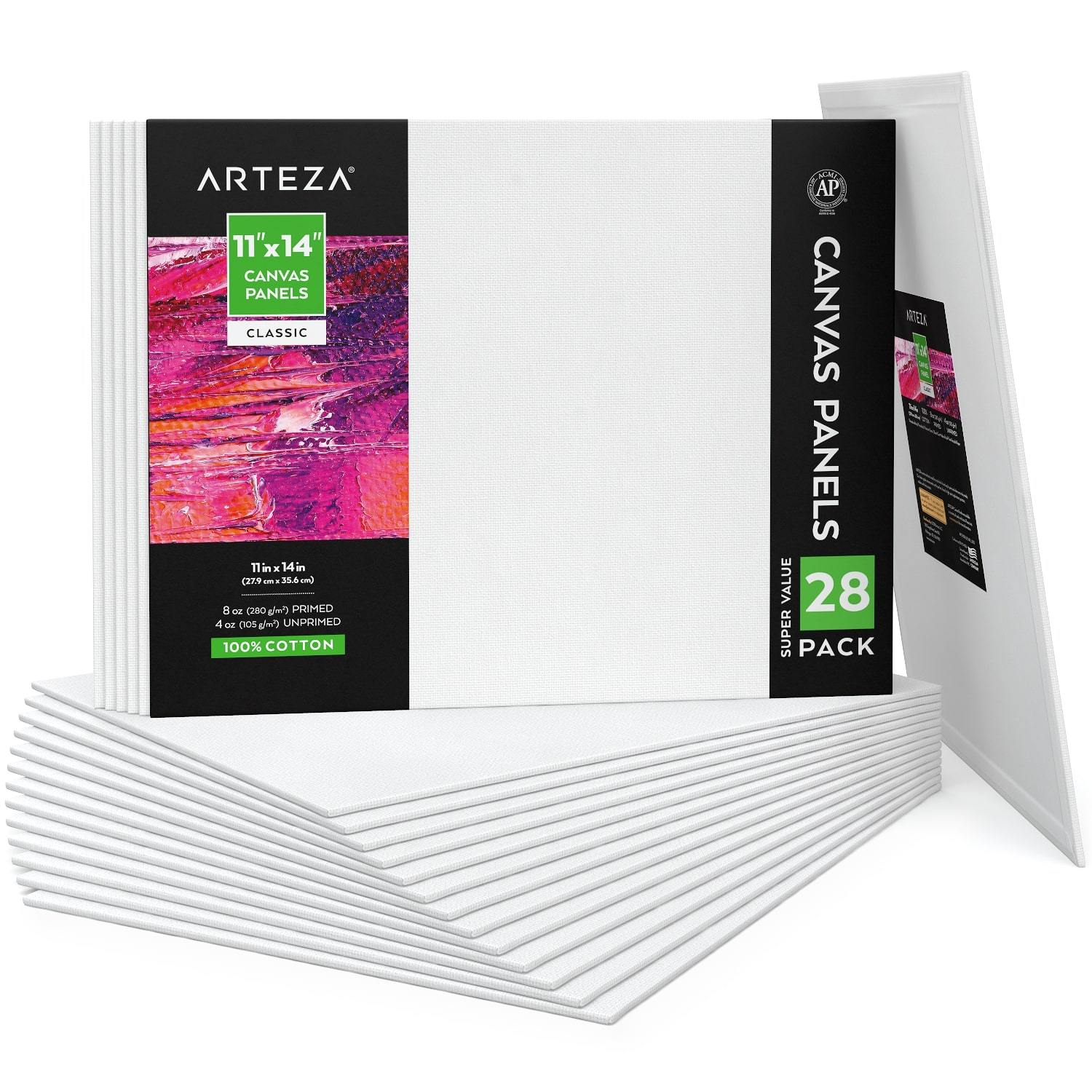 Le Naturel Painting Canvas Panel Boards 6x8 Inch Super Value Pack for Oil /& Acrylic Paint 12 Pack