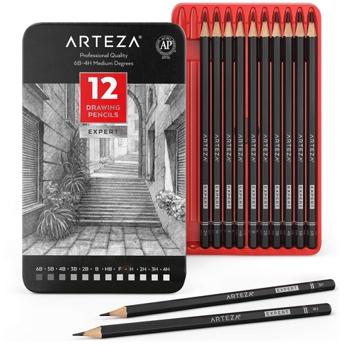 Professional Drawing Pencils - Pack of 12 | ARTEZA