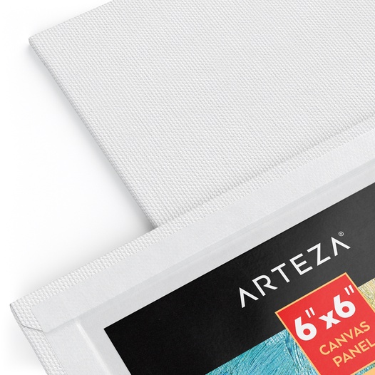 7 oz Unprimed Arteza Premium Canvas Panels 10x10 Inch Hobby Painters 100/% Cotton Acid-Free White Blank Pack of 14 Professional Artists 12.3 oz Primed Art Supplies for Acrylic /& Oil Painting